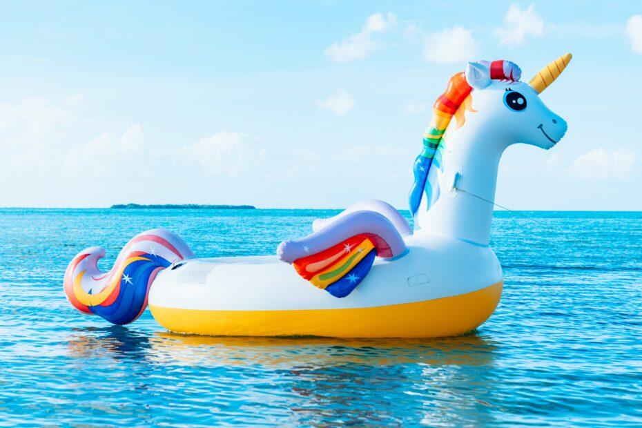 Unicorn in sea